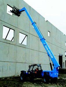 Large forklift operating on job site
