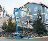 Trailer Boom lift window installation